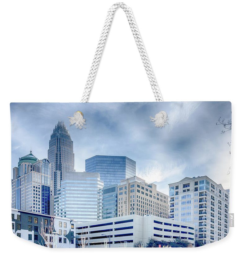 Rare Weekender Tote Bag featuring the photograph Charlotte Downtown by Alex Grichenko