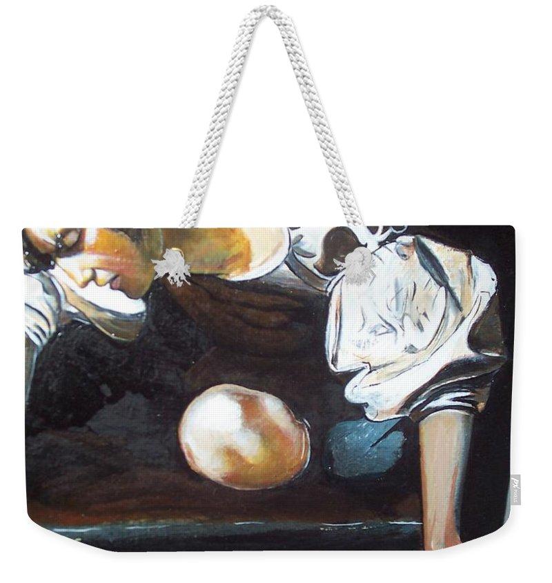 Weekender Tote Bag featuring the painting Detail by Jude Darrien