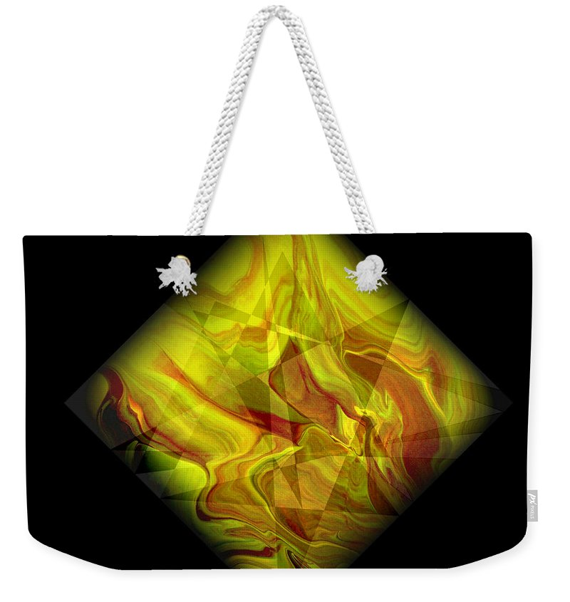 Symmetrical Weekender Tote Bag featuring the painting Diamond 105 by J D Owen