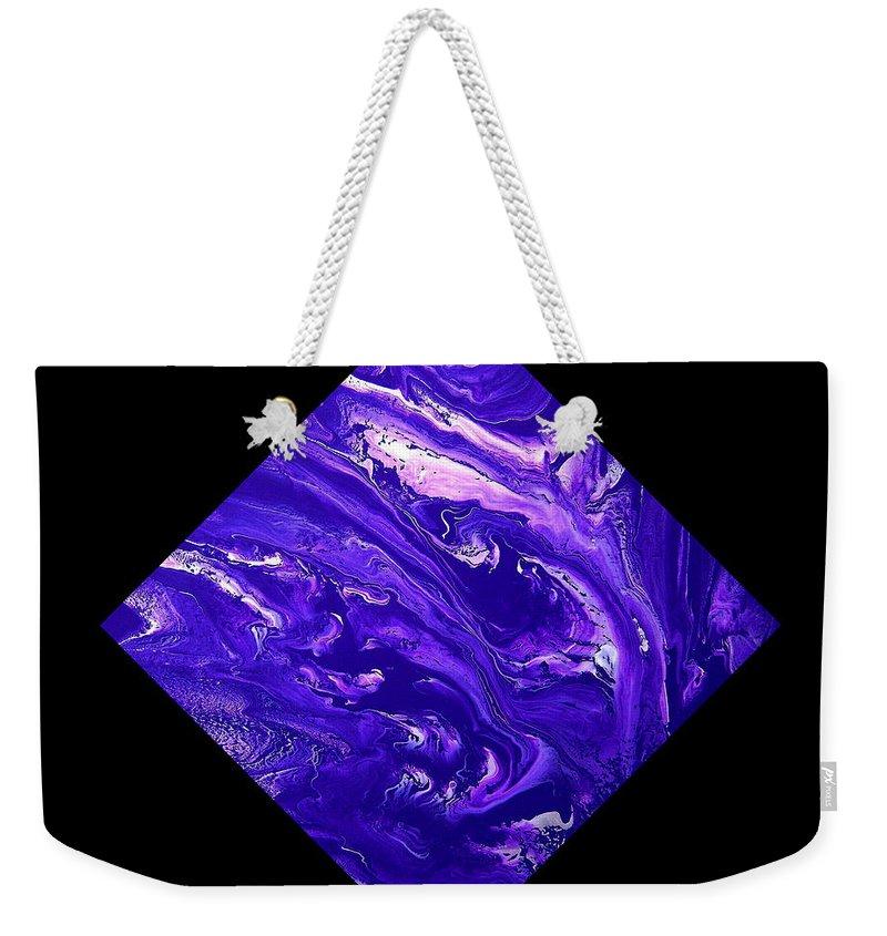 Diamond Weekender Tote Bag featuring the painting Diamond 202 by J D Owen