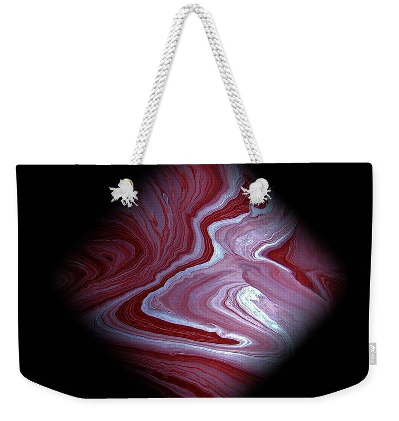 Original Weekender Tote Bag featuring the painting Diamond 214 by J D Owen