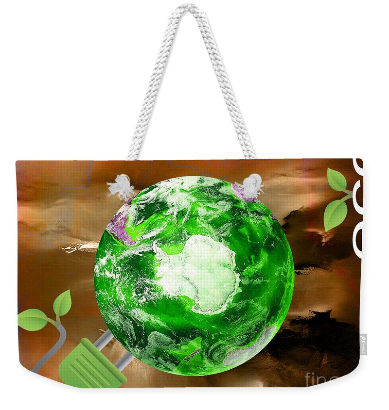 Eco Weekender Tote Bag featuring the mixed media eco by Marvin Blaine