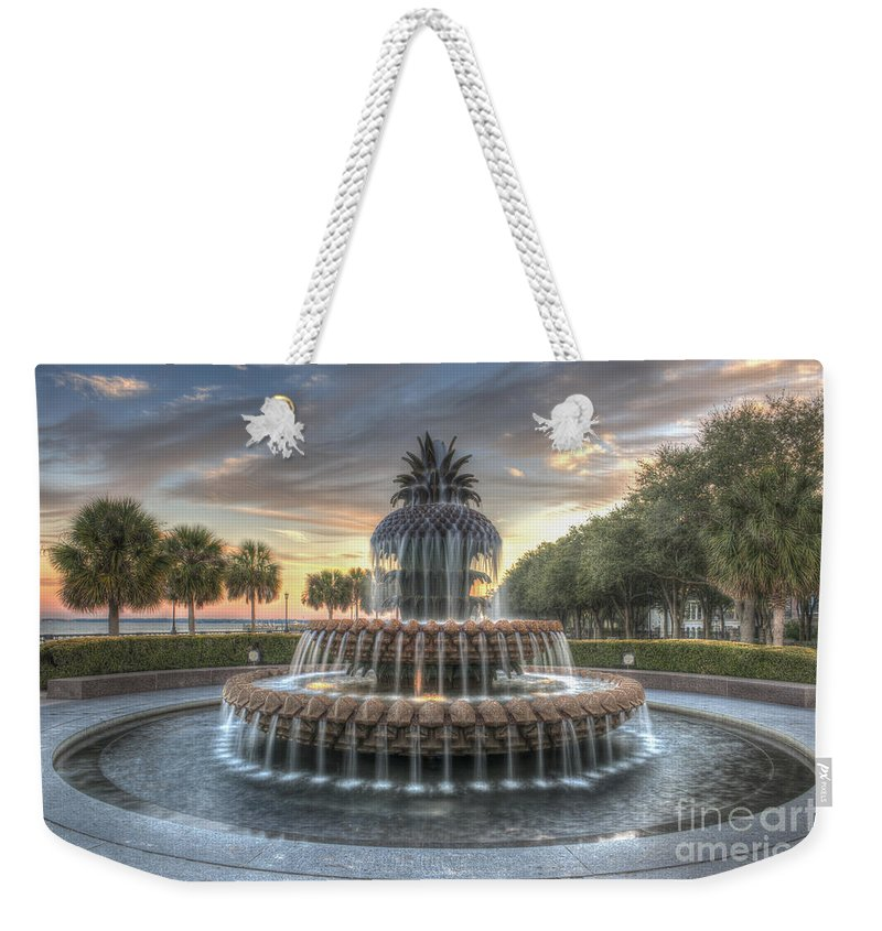 Pineapple Fountain Weekender Tote Bag featuring the photograph Evening Sky by Dale Powell