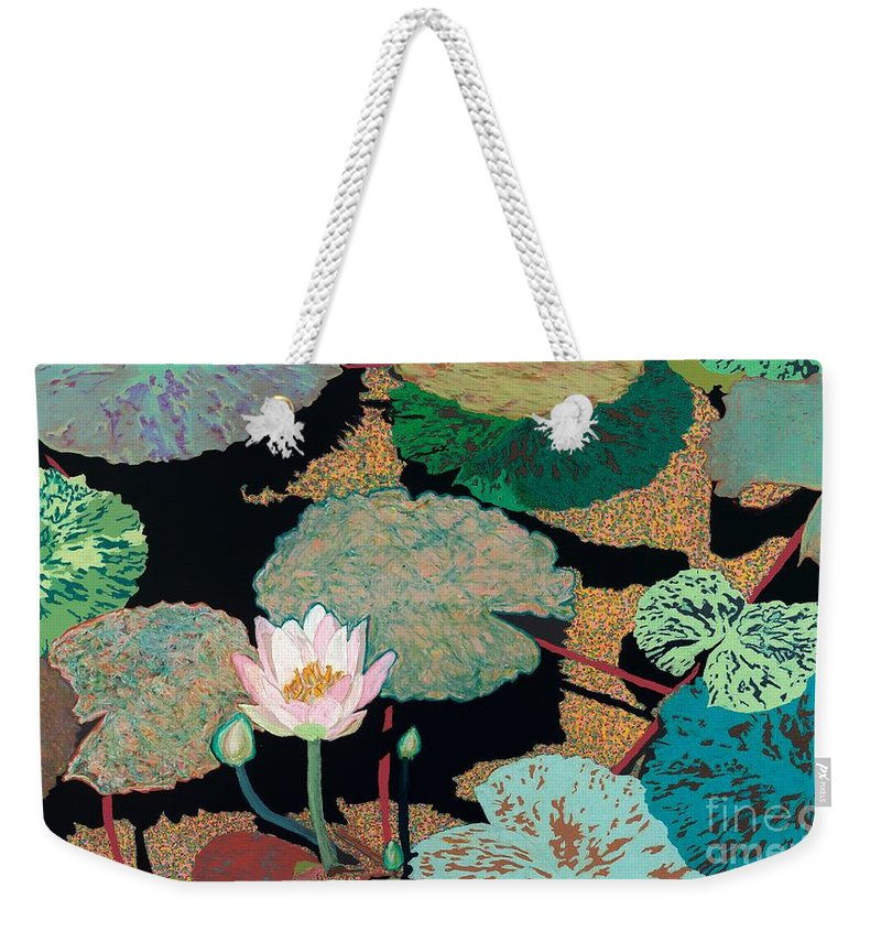 Landscape Weekender Tote Bag featuring the painting Hot and Humid by Allan P Friedlander