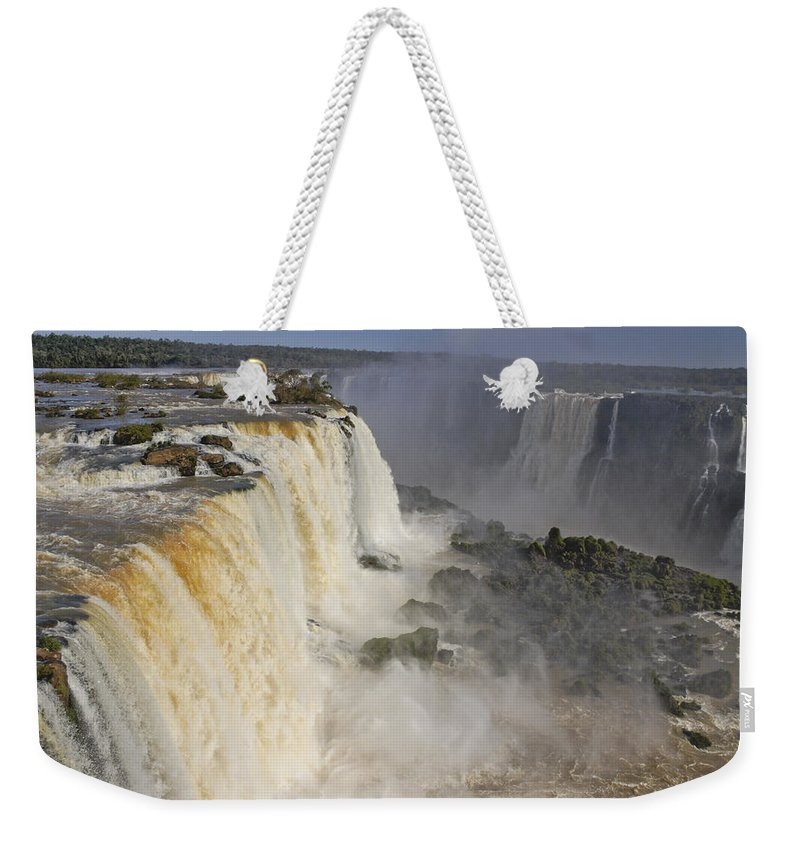 Brazil Weekender Tote Bag featuring the photograph Iguassu Falls by Michele Burgess