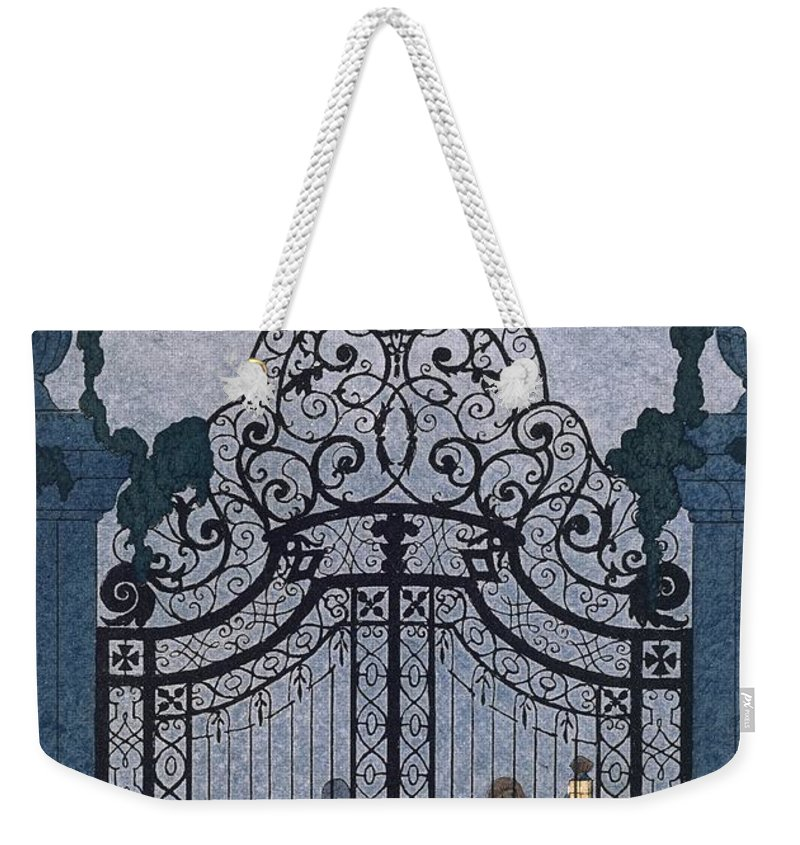Gates Weekender Tote Bag featuring the painting Illustration For 'fetes Galantes' by Georges Barbier