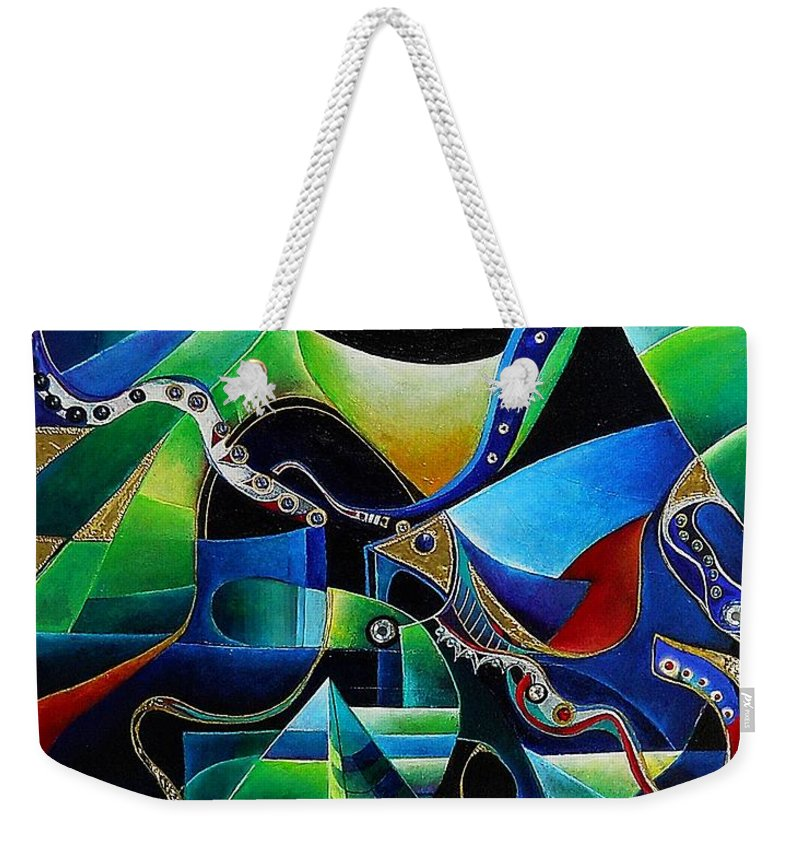 Joseph Weekender Tote Bag featuring the painting Joseph In Egypt by Wolfgang Schweizer