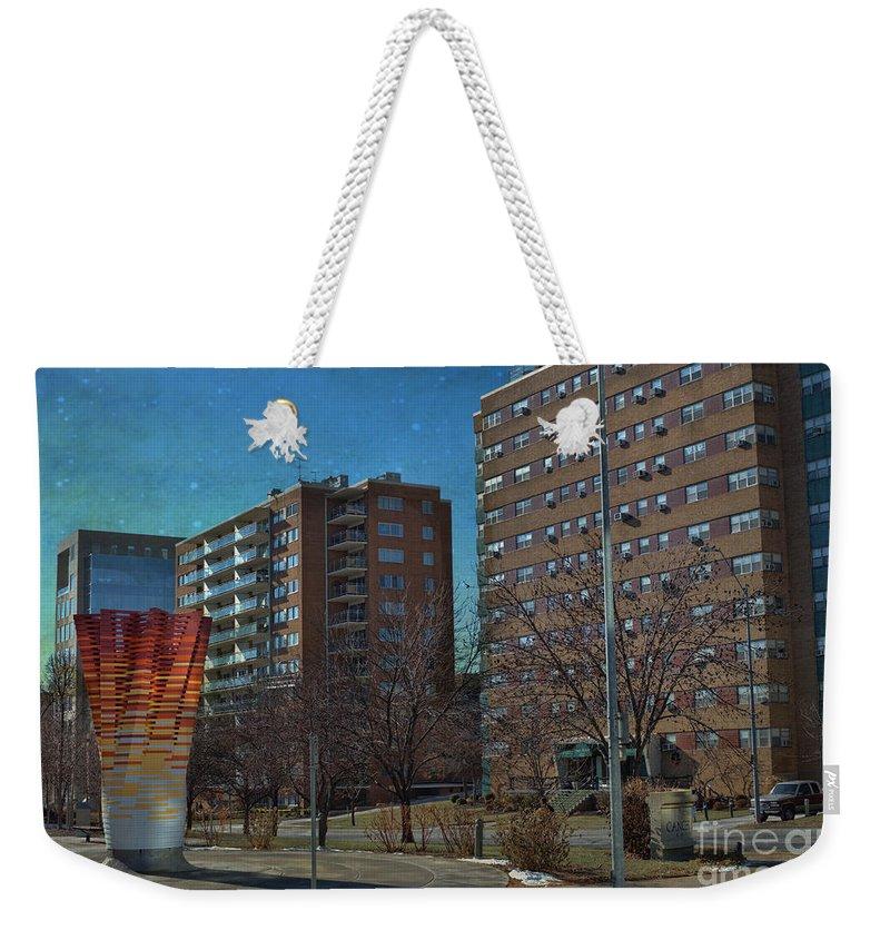 Kansas City Missouri Weekender Tote Bag featuring the photograph Kansas City Missouri by Liane Wright