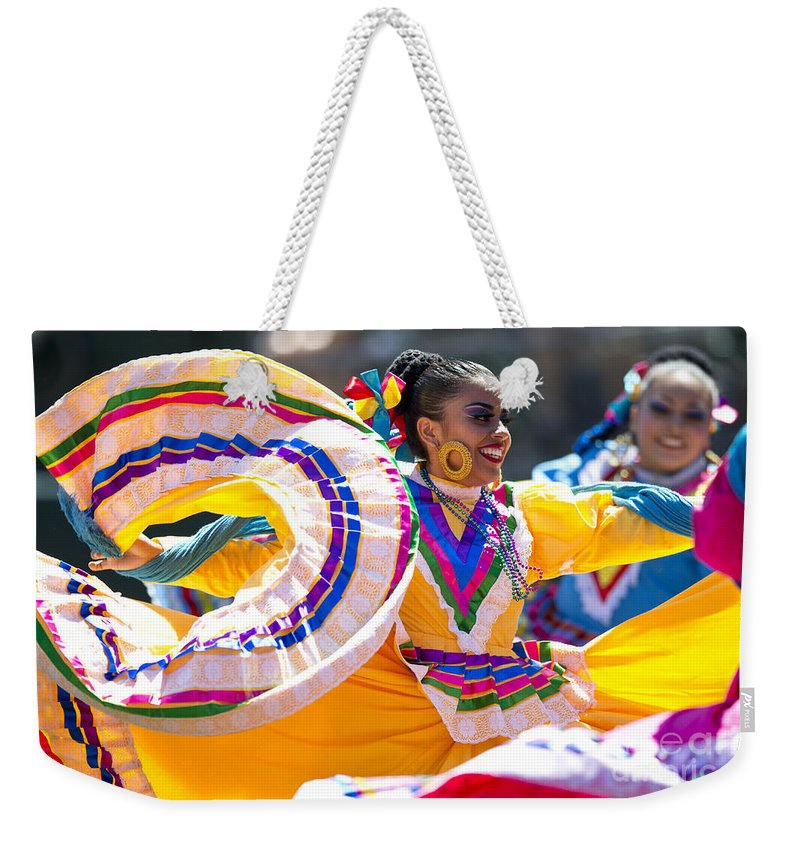 Mexican Weekender Tote Bag featuring the photograph Mexican Folk Dancers by Jason O Watson