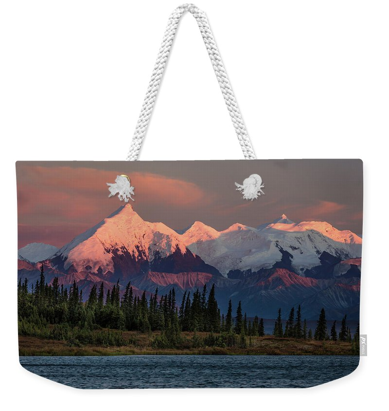 Photography Weekender Tote Bag featuring the photograph Mount Denali, Previously Known by Panoramic Images