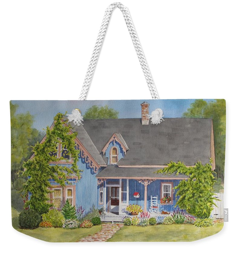 Canada Weekender Tote Bag featuring the painting My Blue Heaven by Mary Ellen Mueller Legault