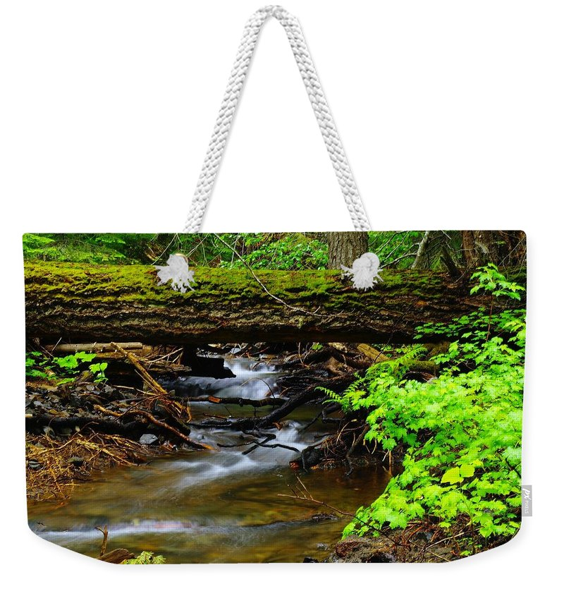 Rivers Weekender Tote Bag featuring the photograph Natural Bridge by Jeff Swan