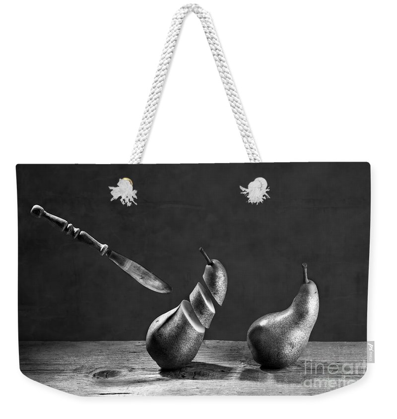 Pear Weekender Tote Bag featuring the photograph No Escape 3 by Nailia Schwarz