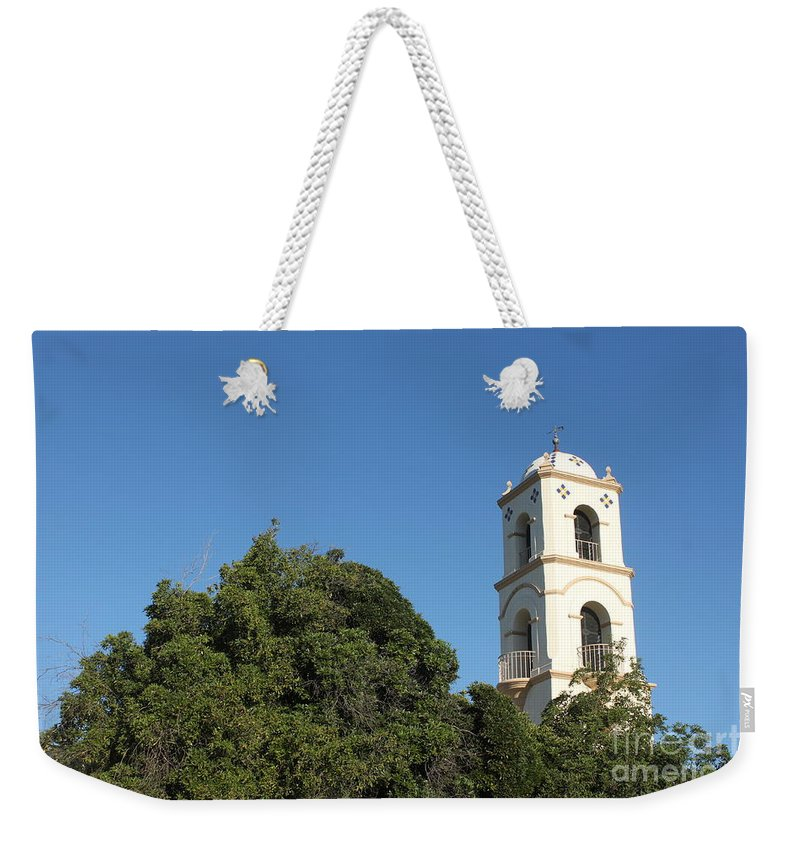 Architectural Weekender Tote Bag featuring the photograph Ojai Post Office Tower by Henrik Lehnerer