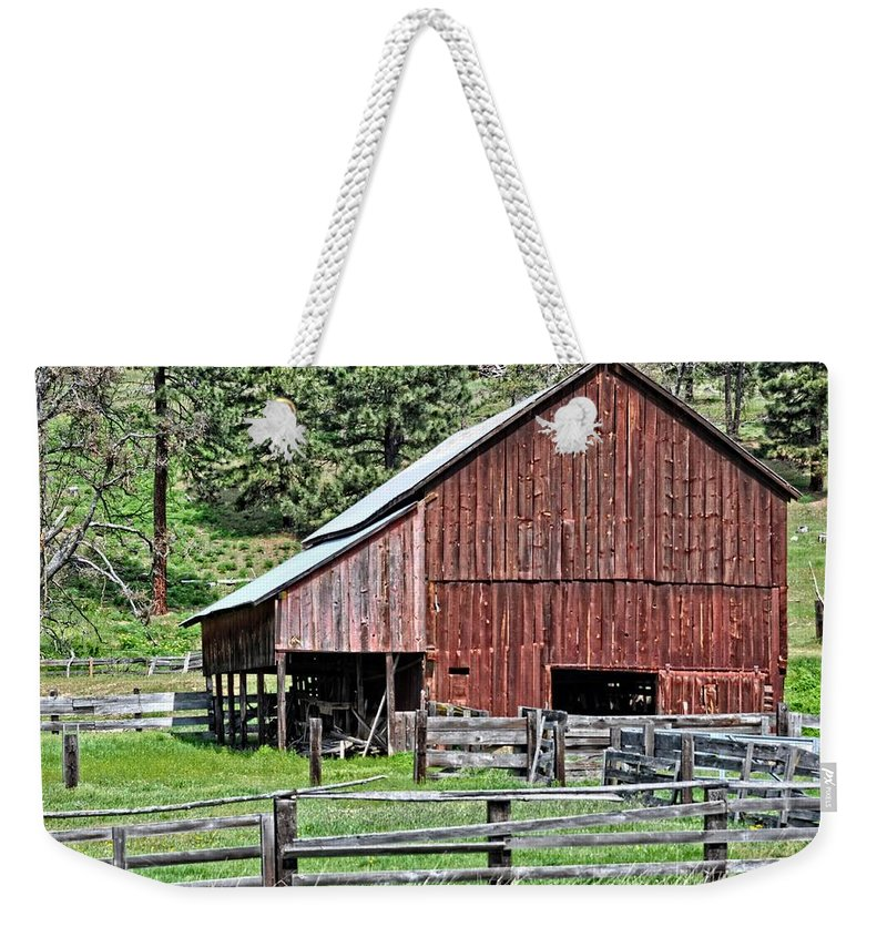 Barn Weekender Tote Bag featuring the photograph Oregon by Image Takers Photography LLC