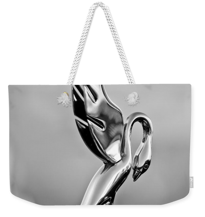 Packard Cormorant Hood Ornament Weekender Tote Bag featuring the photograph Packard Cormorant Hood Ornament by Jill Reger
