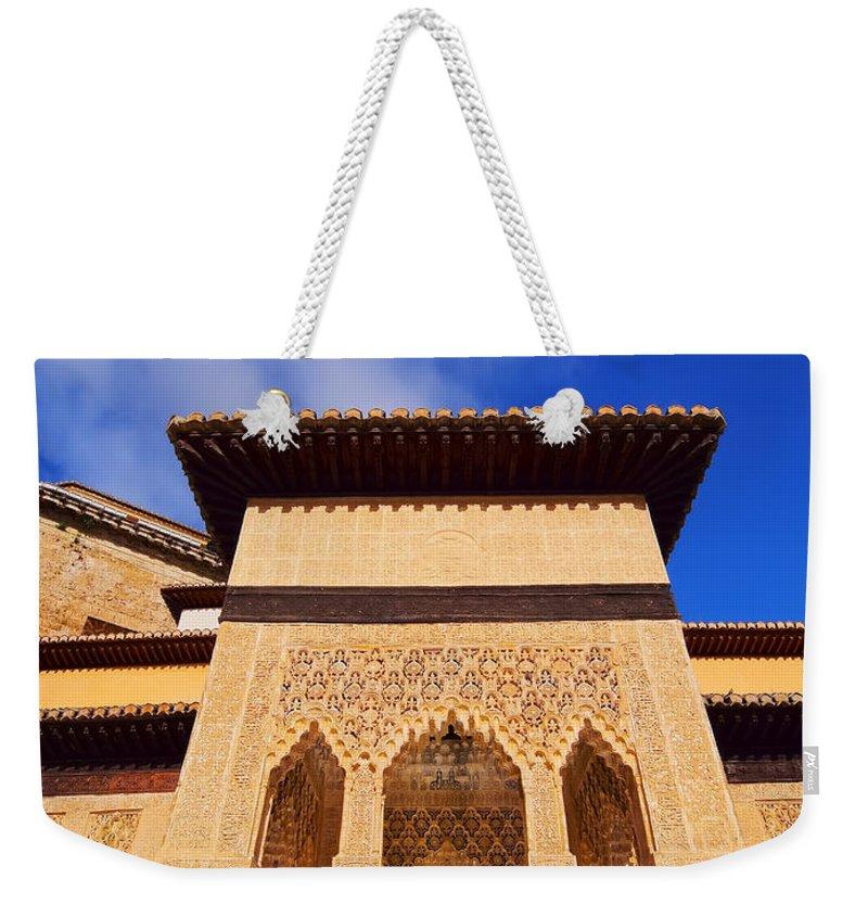 Vertical Weekender Tote Bag featuring the photograph Palacios Nazaries In Granada by Karol Kozlowski