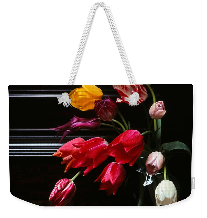 Piano Weekender Tote Bag featuring the photograph Piano by Photophilous