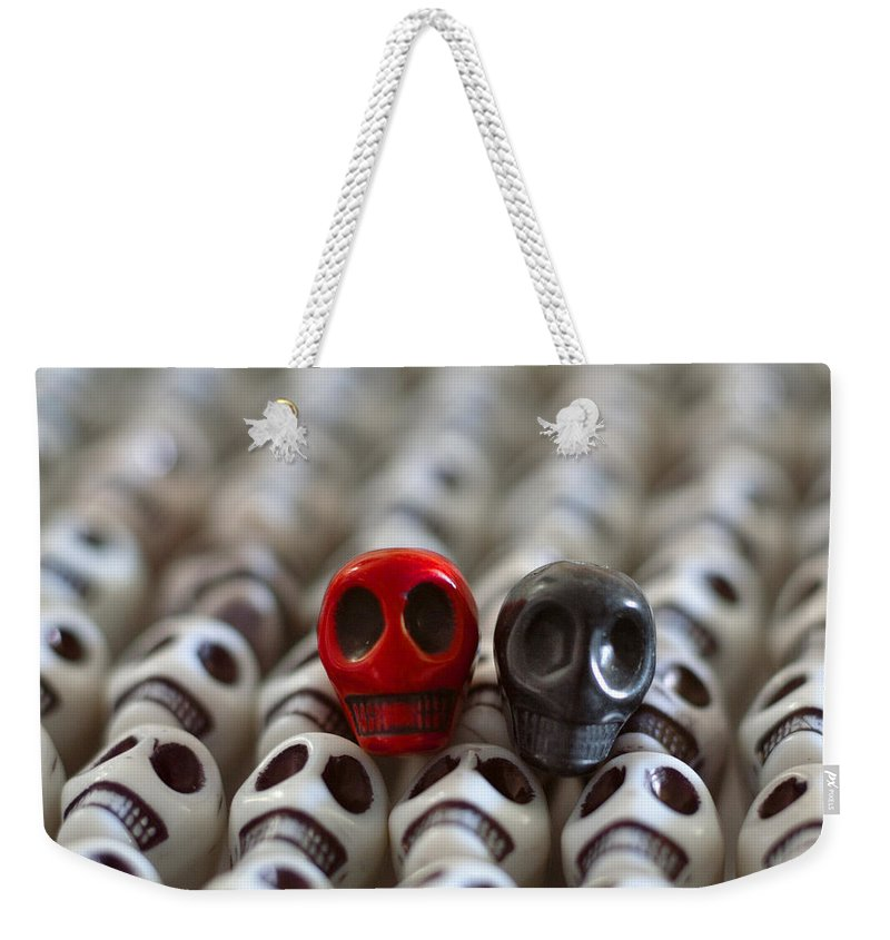 Smiles Weekender Tote Bag featuring the photograph Red And Black by Mike Herdering