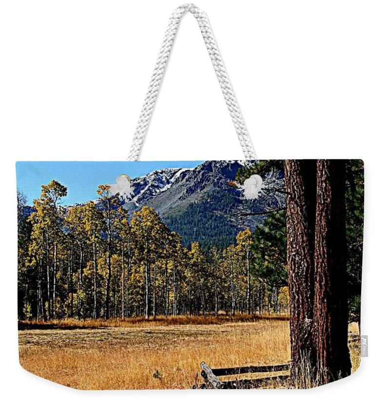 Landscapes Weekender Tote Bag featuring the photograph Split Rail Fence by Lynn Bawden
