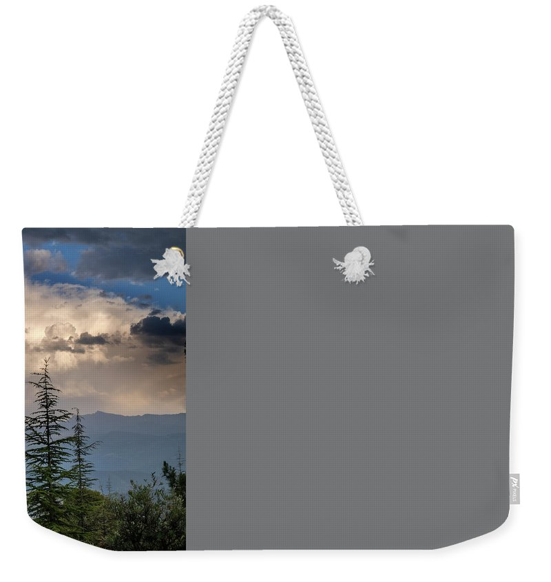 Storm Weekender Tote Bag featuring the photograph Storm At The Mountains by Guido Montanes Castillo