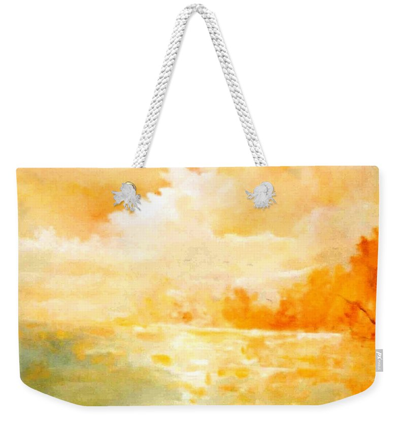 Lyle Weekender Tote Bag featuring the painting Sunset by Lord Frederick Lyle Morris - Disabled Veteran