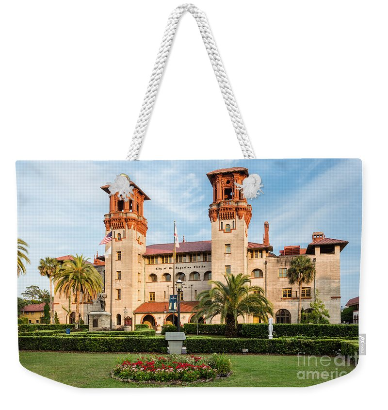 The Lightner Museum Weekender Tote Bag featuring the photograph The Lightner Museum Formerly The Hotel Alcazar St. Augustine Florida by Dawna Moore Photography
