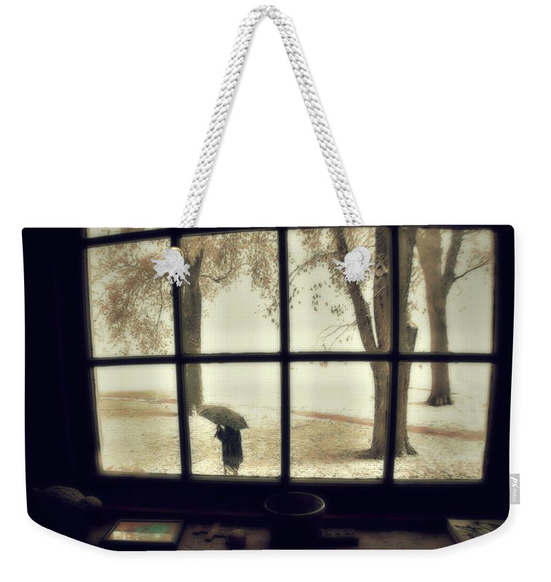 Groton School Weekender Tote Bag featuring the photograph The October Snow by Marysue Ryan