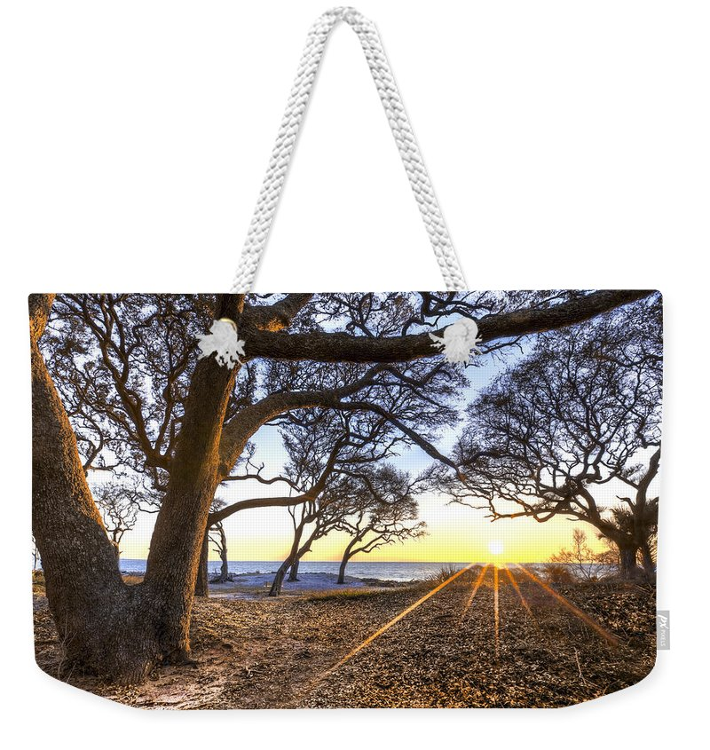 Clouds Weekender Tote Bag featuring the photograph The Reach by Debra and Dave Vanderlaan