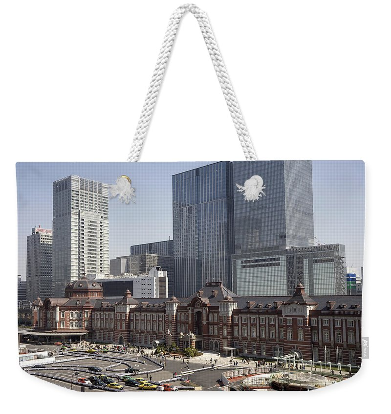 Tokyo Station Weekender Tote Bag featuring the photograph Tokyo Station by For Ninety One Days