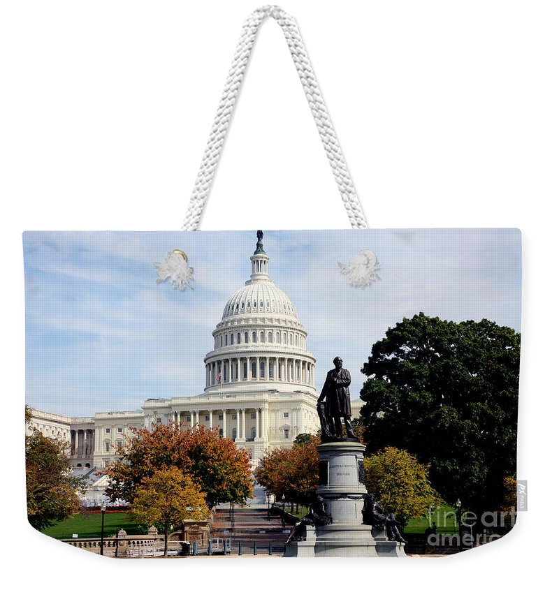 Capitol Building Weekender Tote Bag featuring the photograph United States Capitol Building by Bill Cobb