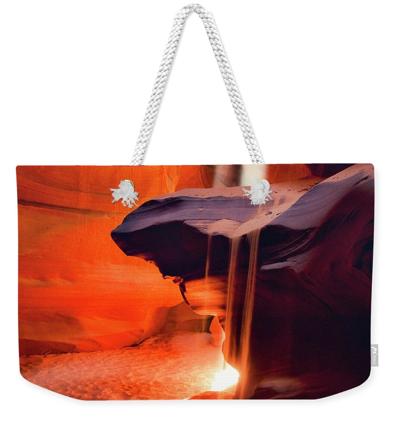 Native American Reservation Weekender Tote Bag featuring the photograph Upper Antelope Canyon by Powerofforever