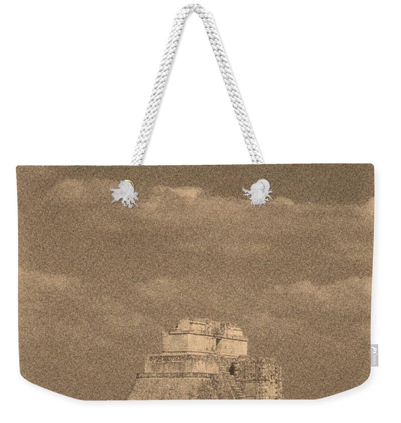 America Weekender Tote Bag featuring the digital art Uxmal Ruins by Roy Pedersen