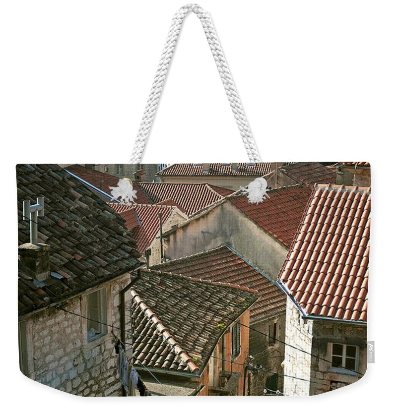 Kotor Weekender Tote Bag featuring the photograph View Of Kotor Town In Montenegro by Jacek Malipan