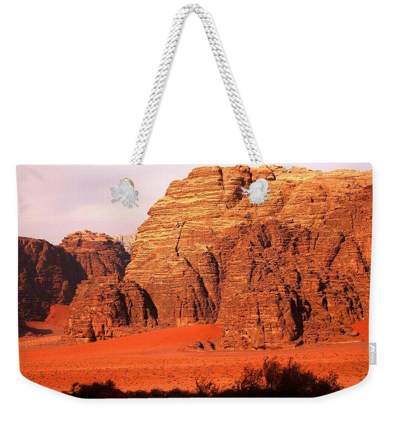 Adventure Weekender Tote Bag featuring the photograph Wadi Rum Desert, Jordan by David Santiago Garcia