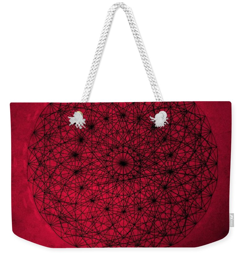 Jason Weekender Tote Bag featuring the drawing Wave Particle Duality by Jason Padgett