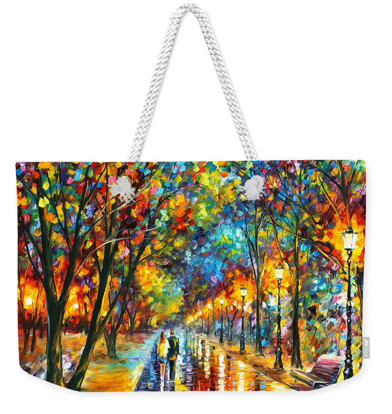 Park Weekender Tote Bag featuring the painting When Dreams Come True by Leonid Afremov