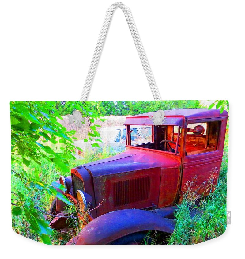 32ford Weekender Tote Bag featuring the photograph 32 Ford by Aaron Martens