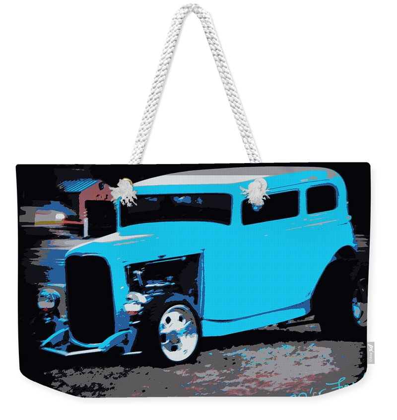 32 Ford Weekender Tote Bag featuring the photograph 32 Ford Victoria by Bobbee Rickard
