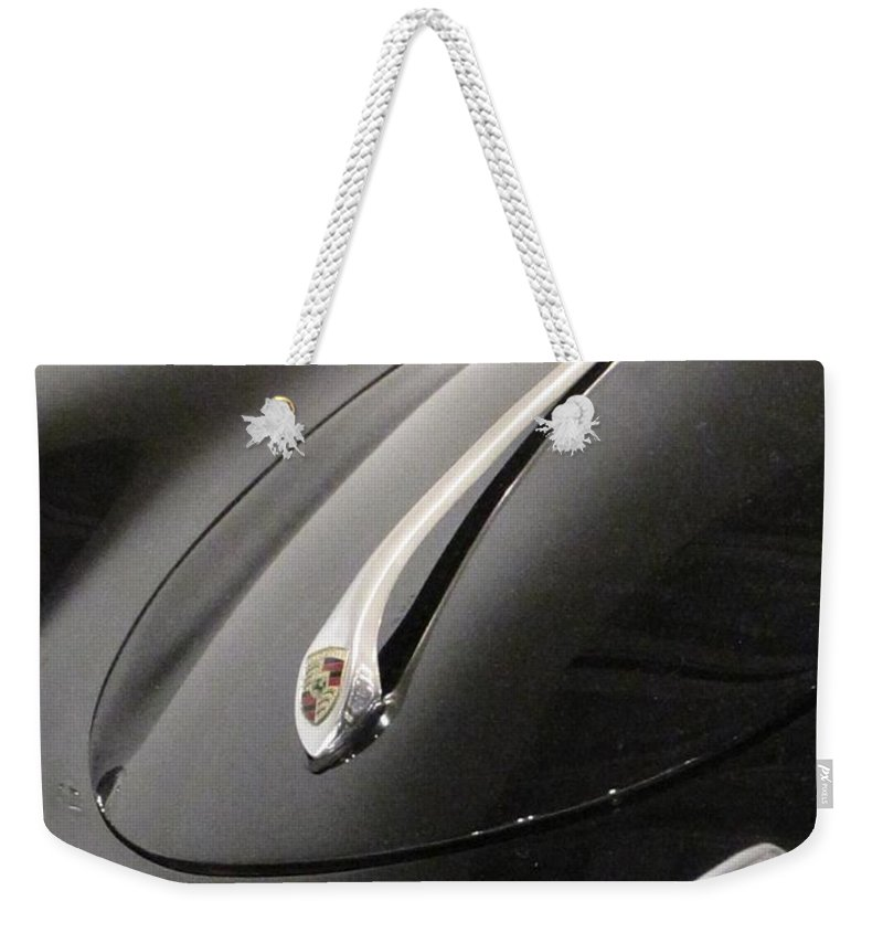 Porsche Weekender Tote Bag featuring the photograph 356 Nose by Kelly Mezzapelle