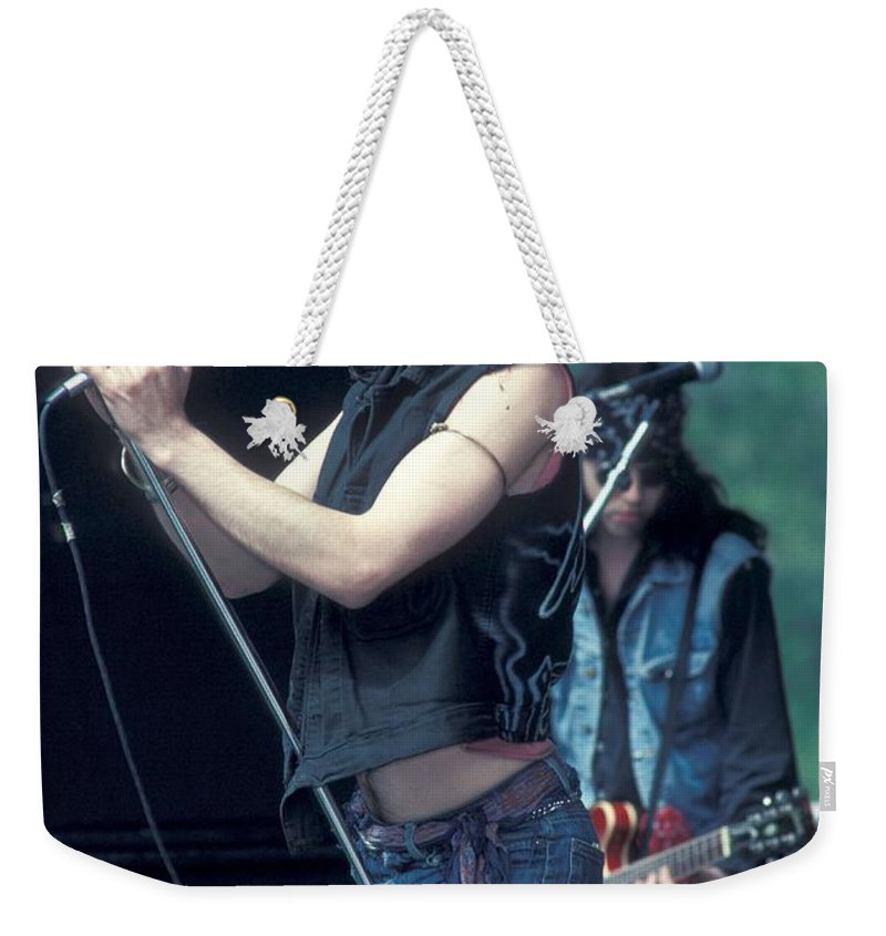 Vest Weekender Tote Bag featuring the photograph 39 Steps - Chris Barry by Concert Photos