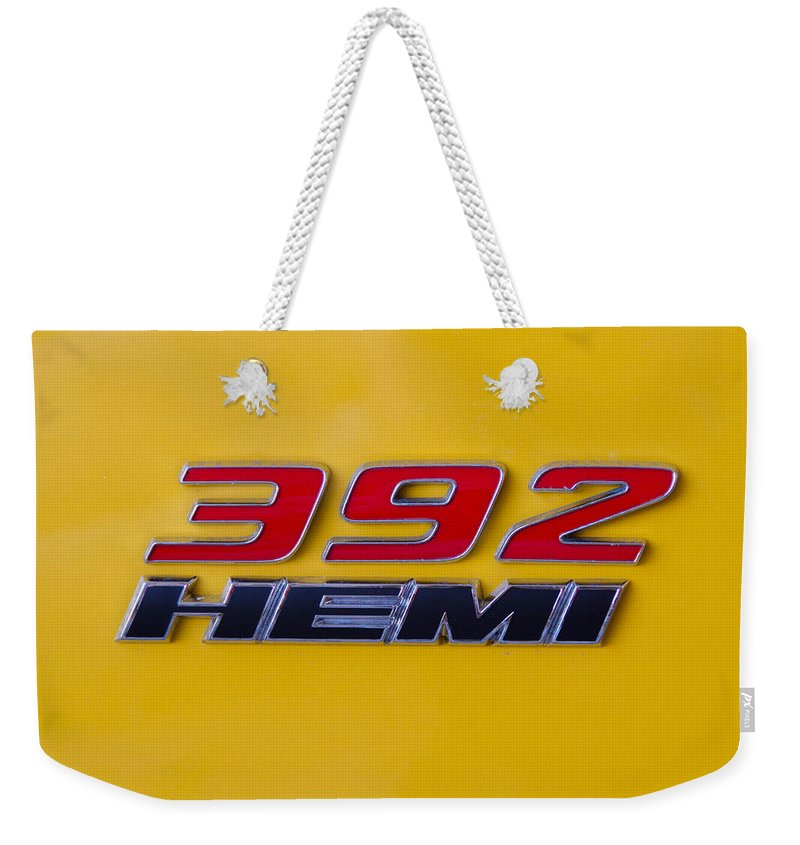 392 Hemi Weekender Tote Bag featuring the photograph 392 Hemi In Yellow by Guy Whiteley