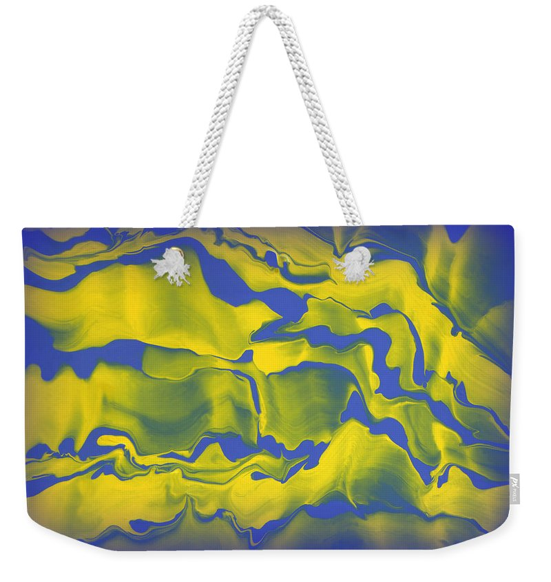 Original Weekender Tote Bag featuring the painting Abstract 106 by J D Owen