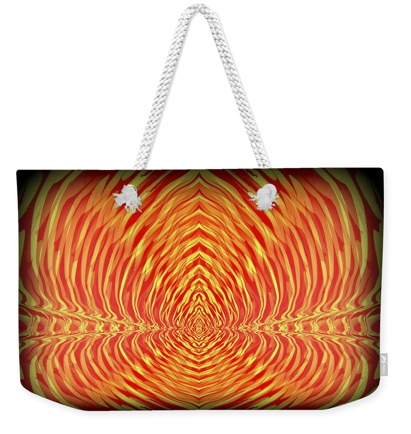 Original Weekender Tote Bag featuring the painting Abstract 98 by J D Owen