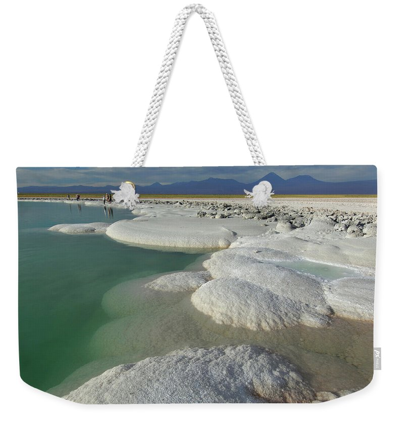Altiplano Weekender Tote Bag featuring the photograph Atacama Salt Lake Near San Pedro De by Christian Heeb