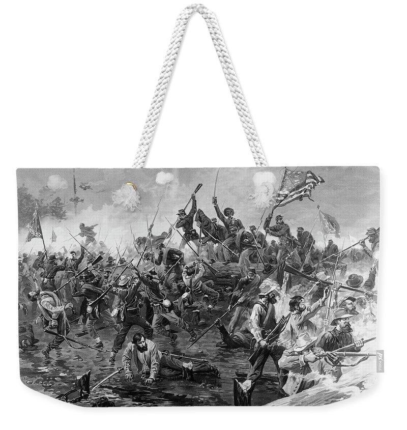 1864 Weekender Tote Bag featuring the painting Civil War Spotsylvania by Granger
