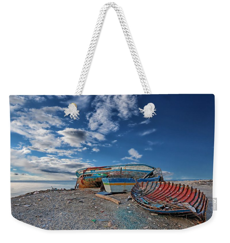 Boat Weekender Tote Bag featuring the photograph Fishing Boat by Paul Fell