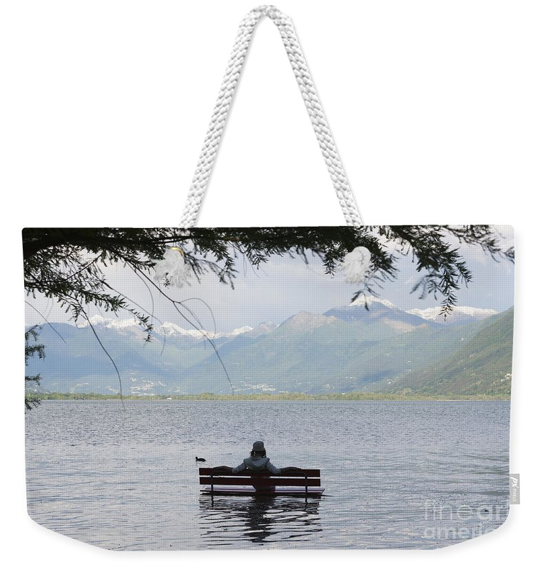 Woman Weekender Tote Bag featuring the photograph Flooding Lake by Mats Silvan