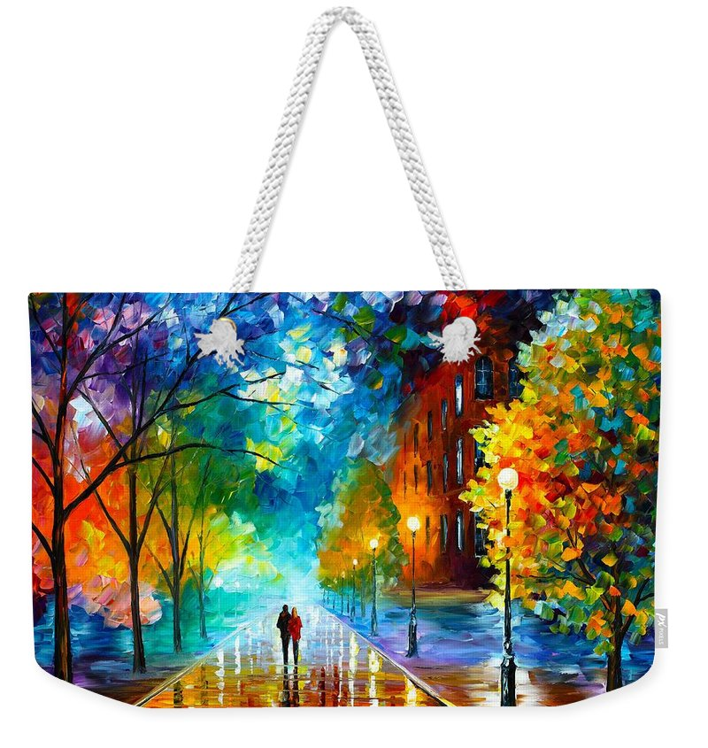 Afremov Weekender Tote Bag featuring the painting Freshness Of Cold by Leonid Afremov