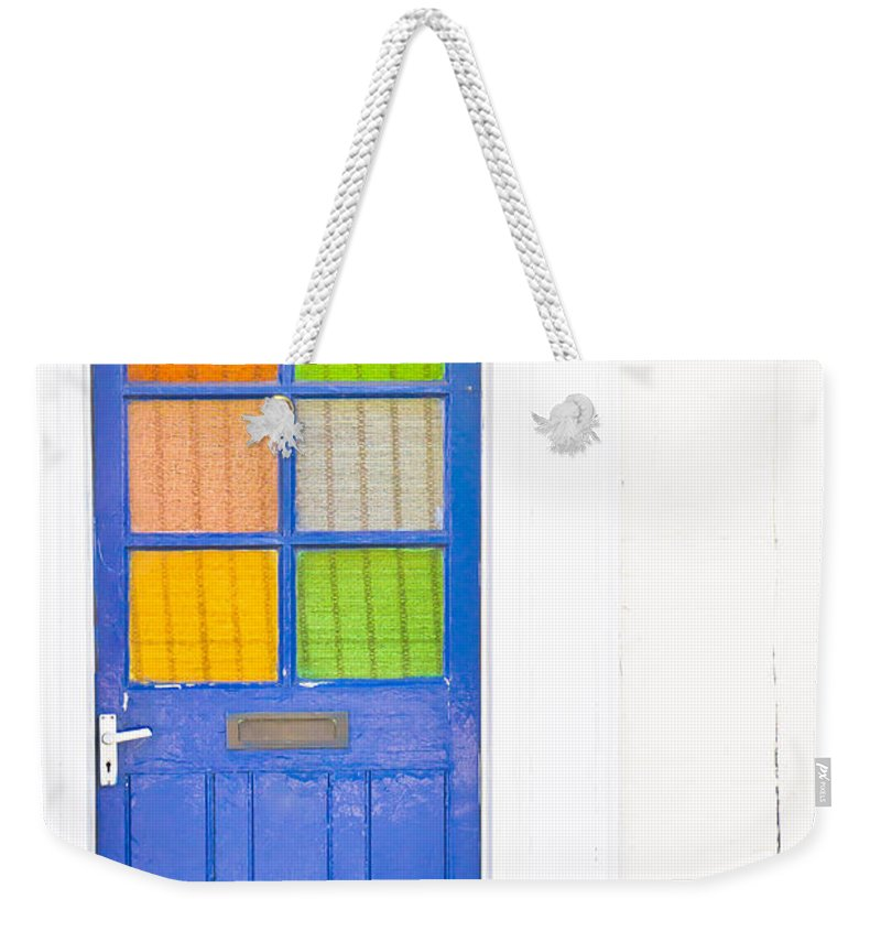 Address Weekender Tote Bag featuring the photograph Front Door by Tom Gowanlock